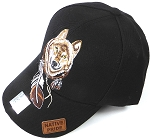 Wholesale Native Pride Baseball Cap - Dreamcatcher of Wolf - Black
