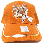 Wholesale Native Pride Baseball Cap - Deer - Texas Orange