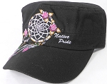 Wholesale Native Pride Cadet Cap - Floral Dreamcatcher - Black
