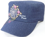 Wholesale Native Pride Cadet Cap - Floral Dreamcatcher - Dark Stone