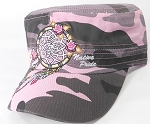 Wholesale Native Pride Cadet Cap - Floral Dreamcatcher - Pink Camo