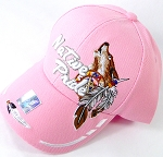 Wholesale Native Pride Baseball Cap - Howling Wolf - Pink