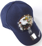 Wholesale Native Pride Baseball Cap - Eagle Dream Catcher- Navy