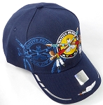 Wholesale Native Pride BallCap - Peace Pipes - Navy