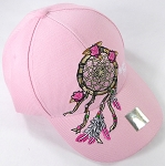 Wholesale Native Pride Baseball Caps - Rose Dreamcatcher - Pink