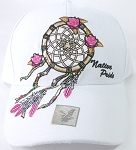 Wholesale Native Pride Baseball Cap - Rose Dreamcatcher - White