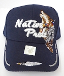Wholesale Native Pride Baseball Cap - Howling Wolf - Navy