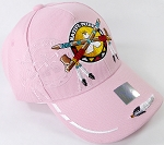 Wholesale Native Pride BallCap - Peace Pipes - Pink