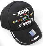 Wholesale Native Pride Baseball Cap - Crossed Arrows - Black
