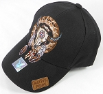 Wholesale Native Pride Cap - Buffalo Skull Dreamcatcher - Black