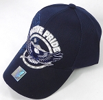 Wholesale Native Pride Baseball Caps - Flying Eagle - Navy