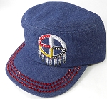 Wholesale Rhinestone Native Pride Cap - Medicine Wheel - Dark Denim