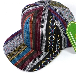 Wholesale Aztec Snapback Hats - Quilt Stripes - Solid