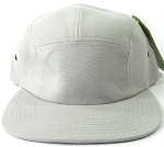 Blank 5 Panel Camp Hats/Caps Wholesale - Light Grey