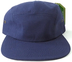 Blank 5 Panel Camp Hats/Caps Wholesale - Navy Blue