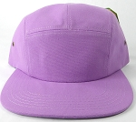Blank 5 Panel Camp Hats/Caps Wholesale - Lavender Purple