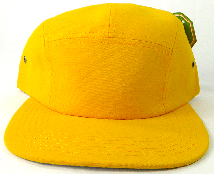 Blank 5 Panel Camp Hats Caps Wholesale - Gold Yellow 401b1236825