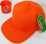 Blank Snapback Hats Caps Wholesale - Solid Orange