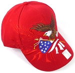 Wholesale USA Patriotic Eagle Baseball Cap - Red