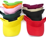Wholesale Plain Summer Visors - Velcro - All Colors