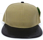 Wholesale Blank Alligator Snapback Hats Caps - Khaki | Black (left 37 pcs)
