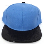 Wholesale Blank Alligator Snapback Hats Caps -Sky Blue| Black (left 10 pcs)