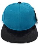Wholesale Blank Alligator Snapback Hats Caps Turquoise Blue| Black (left 11 pcs)