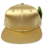 KIDS Jr. Plain Silk  Snapback Caps Wholesale - Gold