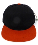KIDS Jr. Plain   Snapback Caps Wholesale -  Black Texas Orange