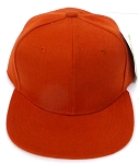 KIDS Jr. Plain   Snapback Caps Wholesale -   Texas Orange