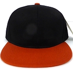 Blank Snapback Hats & Caps Wholesale - Black Texas Orange