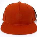 Blank Snapback Hats & Caps Wholesale -Texas Orange