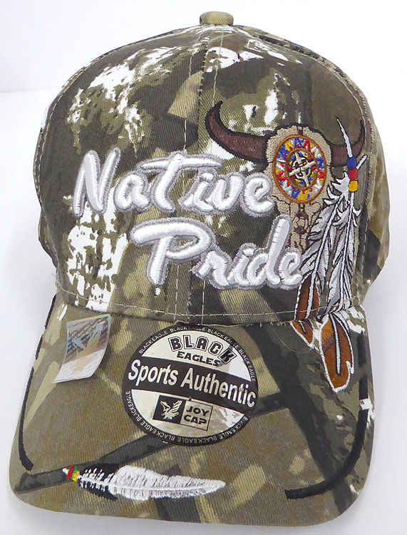 eb3fdc29bb450 Wholesale Native Pride Baseball Cap - Buffalo Skull -Camo