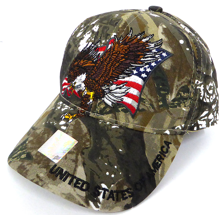 315d636ed Wholesale USA Patriotic Eagle Baseball Cap - Hunting Camo