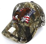 Wholesale USA Patriotic Eagle Baseball Cap - Hunting Camo