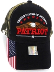 Wholesale USA Patriotic Eagle Baseball Cap -Black Camo
