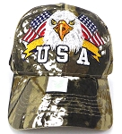 Wholesale USA Patriotic Eagle Baseball Cap -Hunting camo