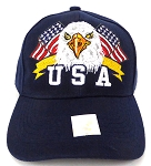 Wholesale USA Patriotic Eagle Baseball Cap -Navy