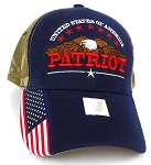 Wholesale USA Patriotic Eagle Baseball Cap -Navy Camo