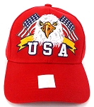 Wholesale USA Patriotic Eagle Baseball Cap -Red