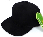 INFANT Baby Blank Snapback Hats & Caps Wholesale - Solid Black