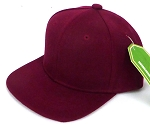 INFANT Baby Blank Snapback Hats & Caps Wholesale - Solid Burgundy