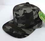 INFANT Baby Blank Snapback Hats & Caps Wholesale - Solid Charcoal Camo
