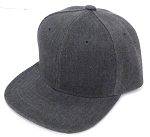 INFANT Baby Blank Snapback Hats & Caps Wholesale - Solid Charcoal Denim Grey
