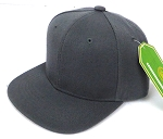 INFANT Baby Blank Snapback Hats & Caps Wholesale - Solid D. Grey