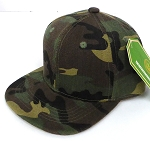 INFANT Baby Blank Snapback Hats & Caps Wholesale - Solid Green Camo