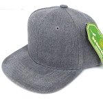 INFANT Baby Blank Snapback Hats & Caps Wholesale - Solid Heather Grey