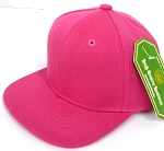 INFANT Baby Blank Snapback Hats & Caps Wholesale - Solid Hot Pink
