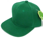 INFANT Baby Blank Snapback Hats & Caps Wholesale - Solid K. Green