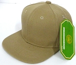 INFANT Baby Blank Snapback Hats & Caps Wholesale - Solid Khaki